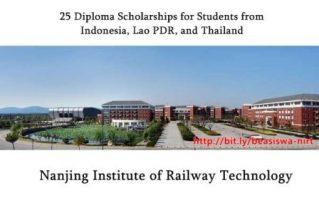 Beasiswa Diploma di Nanjing Institute of Railway Technology (NIRT)