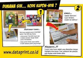 Letak Kupon pada Produk DataPrint