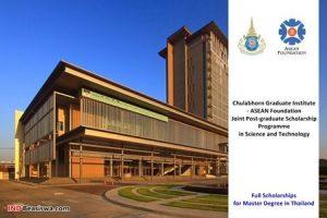 Beasiswa S2 Thailand Penuh di Chulabhorn Graduate Institute
