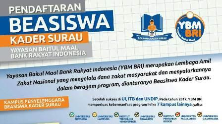 Beasiswa Kader Surau Untuk Mahasiswa S1 Indonesia Oleh Ybm Bri Indbeasiswa