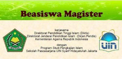Beasiswa S2 UIN Syarif Hidayatullah Jakarta dan Kementerian Agama RI
