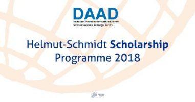 Kuliah Gratis di Jerman oleh Beasiswa DAAD Helmut-Schmidt Programme