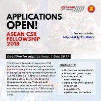 ASEAN CSR Fellowship 2018 di Singapura, Myanmar dan Vietnam