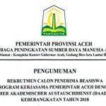 Beasiswa Aceh dan DAAD untuk Kuliah S2 - S3 di Jerman bagi Masyarakat Aceh