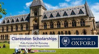 Beasiswa Clarendon di Oxford University untuk Kuliah S2 - S3 dengan Beasiswa Penuh
