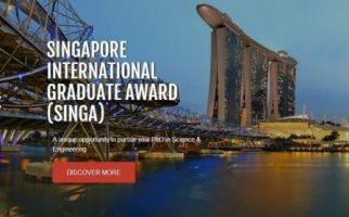 Beasiswa S3 Penuh di Singapura oleh SINGA Award
