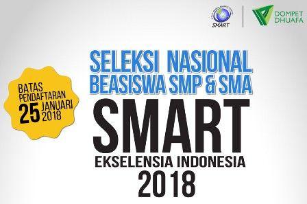 Beasiswa SMP - SMA Gratis oleh SMART Ekselensia Indonesia