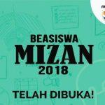 Beasiswa Mizan 2018 untuk Pendanaan Skripsi, Tesis, dan Disertasi