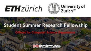 Beasiswa Penelitian Singkat Mahasiswa S1, S2, S3 di ETH Zurich Swiss Fully Funded