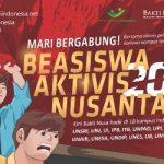 Beasiswa Aktivis Nusantara 2018 untuk Mahasiswa S1