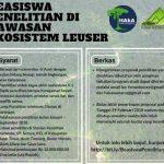 Beasiswa Penelitian S1 bagi Mahasiswa Aceh dari HAkA dan FKL