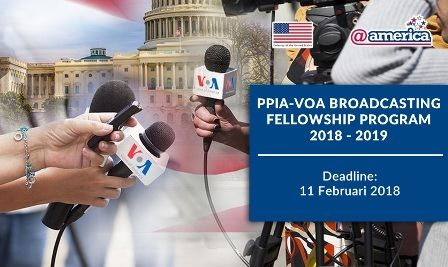 Magang di Luar Negeri untuk Jurnalis Muda oleh PPIA-VOA Tahun 2018