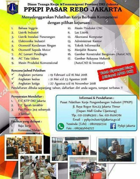 Pelatihan Kerja Gratis di Jakarta Timur PPKPI Pasar Rebo