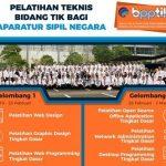 Pelatihan PNS Bidang TIK oleh BPPTIK Kominfo Tahun 2018