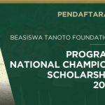 Beasiswa Mahasiswa S1 - S2 Tanoto Foundation Tahun 2018