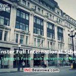 Beasiswa S1 Inggris Penuh oleh University of Westminster