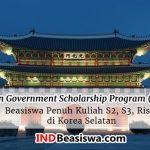 Beasiswa KGSP Kuliah S2, S3, Riset di Korea Selatan (Full Scholarships)
