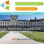 Beasiswa Pemerintah Hungaria 2018 - 2019 Full Scholarship