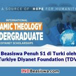 Beasiswa S1 Turki oleh TDV Tahun 2018 (Full Scholarships)