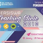 Kursus Bahasa Inggris Gratis Program Teaching Clinic 2018