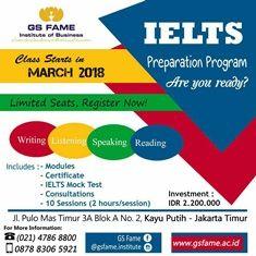 Program Persiapan IELTS oleh GS FAME Institute of Business Tahun 2018