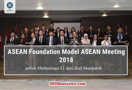ASEAN Foundation Model ASEAN Meeting untuk Mahasiswa S1 ke Singapura (Fully Funded)
