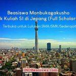 Beasiswa Monbukagakusho untuk Kuliah S1 di Jepang (Full Scholarship)