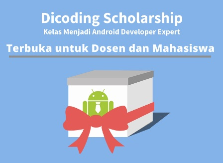 Beasiswa Pemrograman Android untuk Dosen dan Mahasiswa