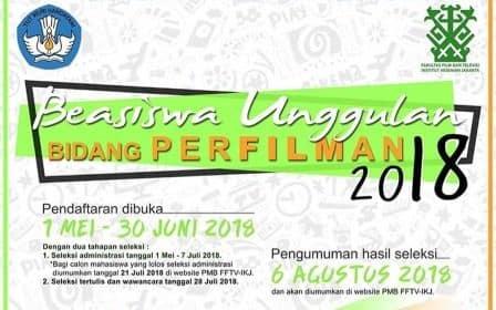 Beasiswa S1 Perfilman di Institut Kesenian Jakarta untuk Lulusan SMA Sederajat
