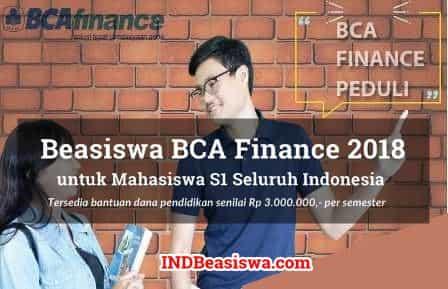 Beasiswa BCA Finance 2018 untuk Mahasiswa S1 Seluruh Indonesia