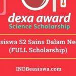 Beasiswa Dexa Award 2018 untuk Kuliah S2 Dalam Negeri (Full Scholarship)