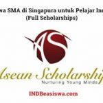 Beasiswa SMA di Singapura untuk Pelajar Indonesia (Full Scholarships)