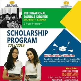 GS FAME Scholarship Program 2018 - 2019 untuk Lulusan SMA Sederajat