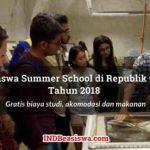 Beasiswa Summer School 2018 di Republik Ceko untuk Pemuda/i Indonesia