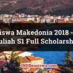 Beasiswa Makedonia 2018 - 2019 Kuliah S1 Full Scholarship