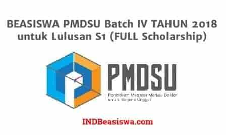 Pendaftaran Beasiswa PMDSU 2018 Batch IV untuk Lulusan S1 (FULL Scholarship)