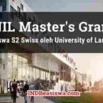 Beasiswa S2 Swiss oleh University of Lausanne Berbagai Jurusan