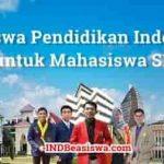 Beasiswa Pendidikan Indonesia untuk Mahasiswa S1